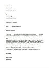 Voorbeeld van een Begeleidende Brief gratis downloaden