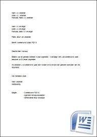 brief schrijven voorbeeld Begeleidende Brief