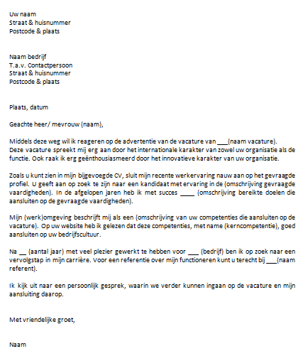 motivatiebrief uwv Motivatiebrief