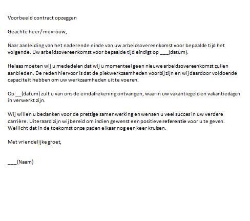 Contract Opzeggen