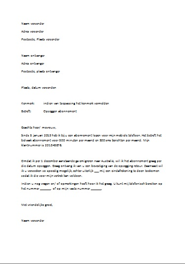 format officiele brief formele brief   Canas.bergdorfbib.co