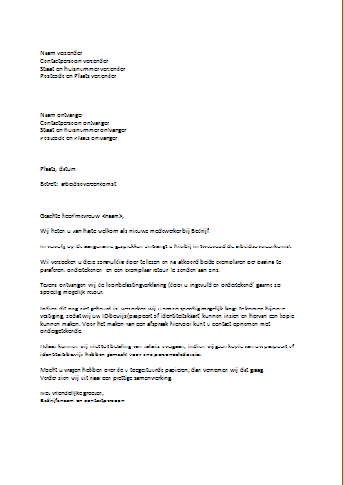 Officiele Brief | hetmakershuis