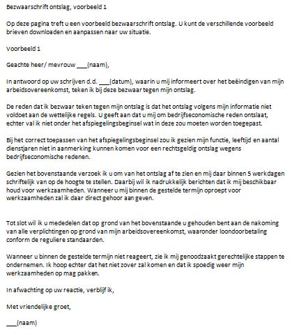 format ontslagbrief Snel Eenvoudig een brief voorbeeld downloaden in Word format ontslagbrief