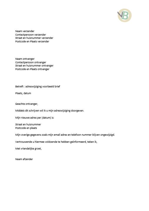 aangetekende brief schrijven brief voorbeeld
