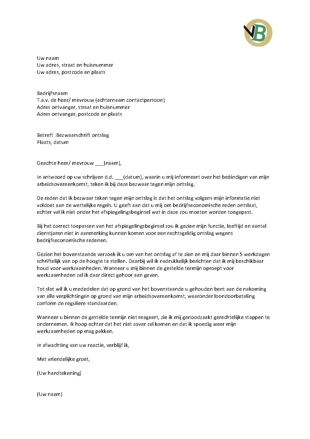 voorbeeldbrief klachtenbrief brief voorbeeld
