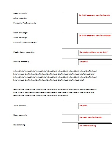 Gratis Formele Brief in Word