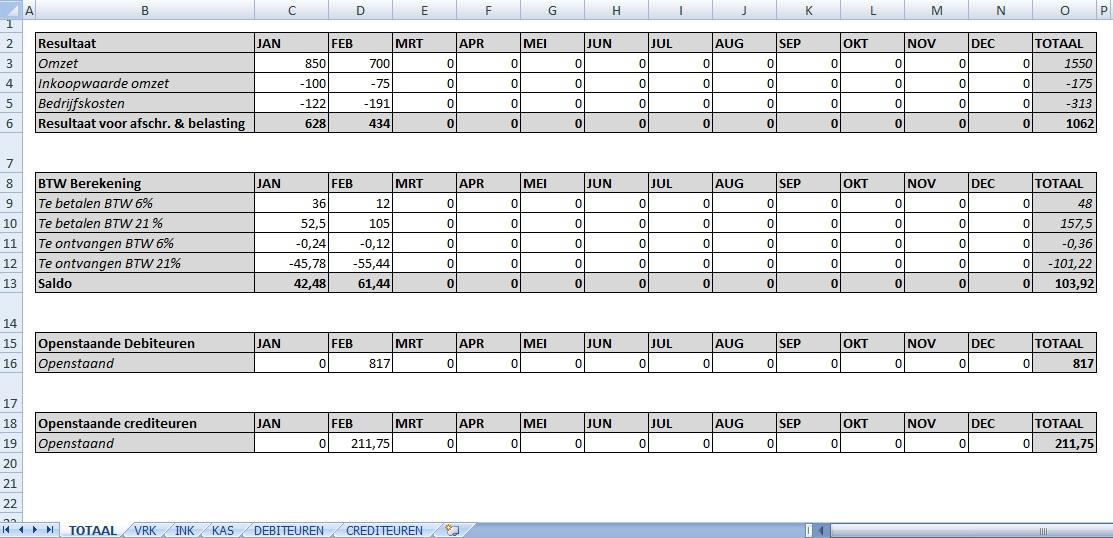 Gratis Boekhoudprogramma Excel