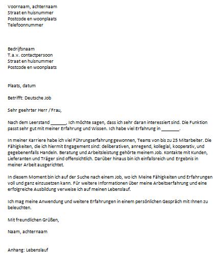 duits voorbeeldbrief Sollicitatiebrief Duits duits voorbeeldbrief