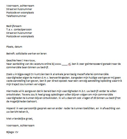 werk motivatiebrief Werk Motivatiebrief | gantinova