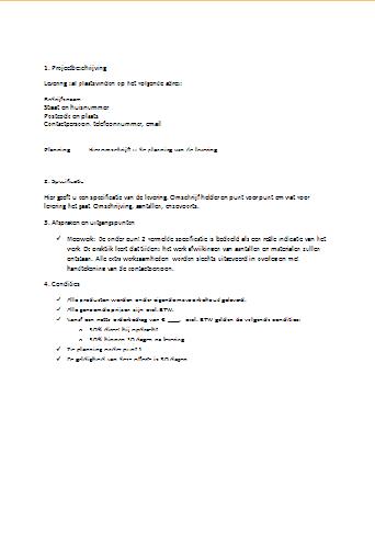 akkoord brief voorbeeld Akkoord Brief Voorbeeld | gantinova