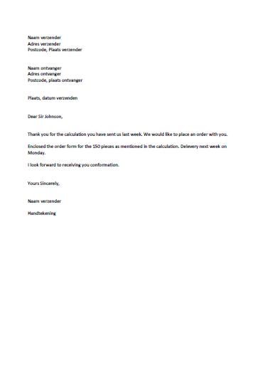 opbouw engelse zakelijke brief formeel brief   Barca.selphee.co