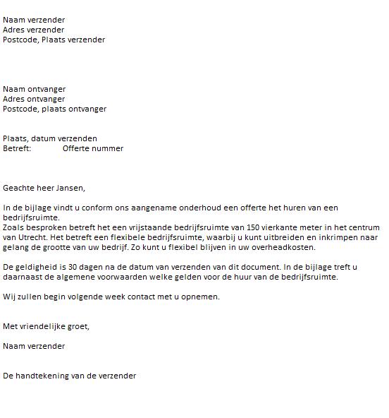 voorbeeldbrief offerte aanvragen Snel een Voorbeeld Offerte Downloaden voorbeeldbrief offerte aanvragen