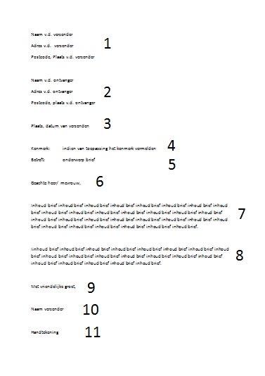 Brief Layout Zakelijk : Een voorbeeld brief opmaak