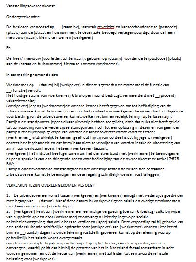 voorbeeldbrief vaststellingsovereenkomst voorbeeldbrief getuigschrift   ontslagbrief engels voorbeeld cv  voorbeeldbrief vaststellingsovereenkomst