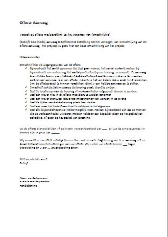 voorbeeldbrief offerte aanvragen Voorbeeldbrief Verzoek | hetmakershuis voorbeeldbrief offerte aanvragen