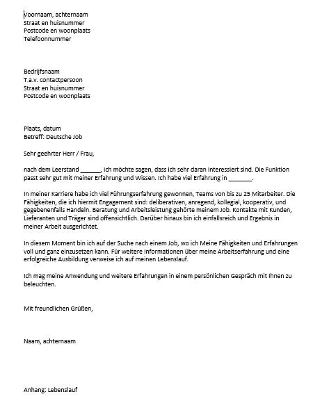 officiele brief opzet zakelijke brief